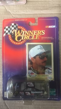 Winner's Circle Nascar Dale Earnhardt card with black die-cast scale model