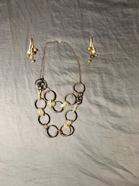 gold-colored necklace with earrings Germantown, 20874