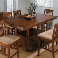Oak Wooden Table with 4 Chairs  / Dining Set WOODBRIDGE