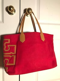 Tory Burch red and tan canvas bag Vaughan, L4H 2V6