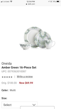 New Oneida 16pc Dinner set Middleburg, 32068