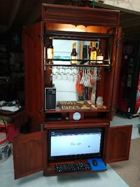 Cherry Entertainment Cabinet with Bar Newark