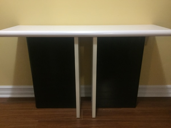 Black and white wooden cabinet
