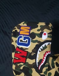 black, brown, and green camouflage A Bathing Ape Shark hoodie