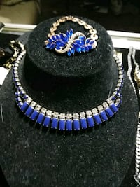 blue and black beaded necklace St. Louis, 63111