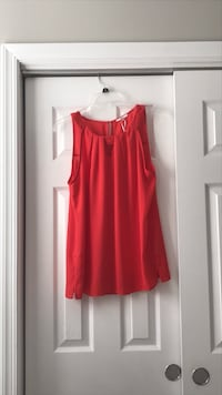 EUC Sleeveless Red/Orange Blouse Clarksburg, 20871