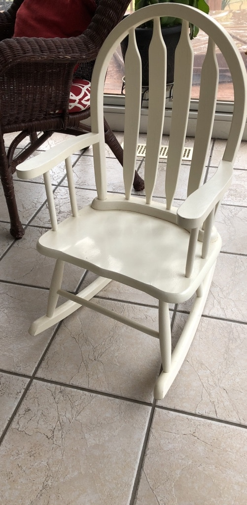 Charmant White Wooden Toddler Rocking Chair By Million Dollar Bsby