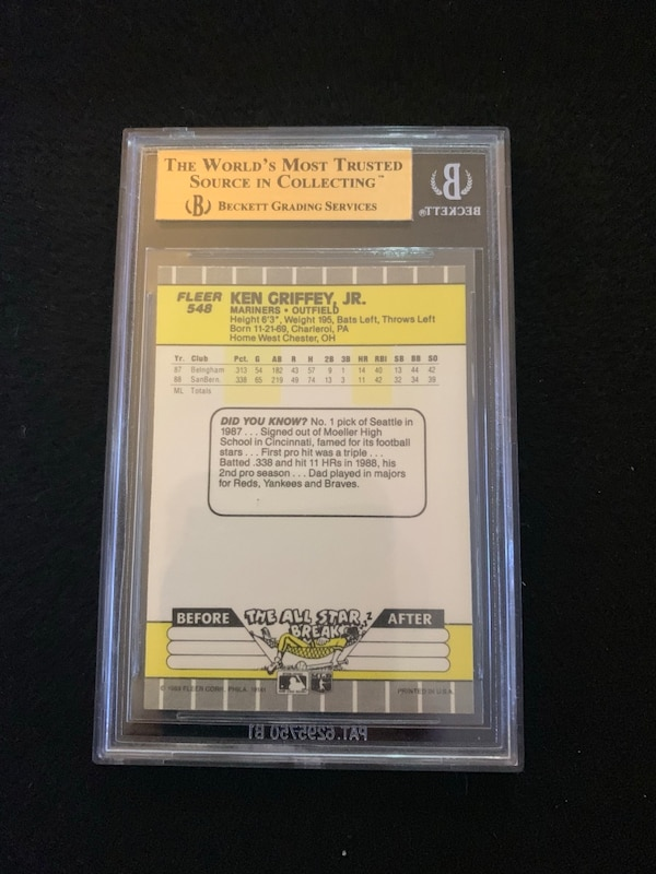 bfa2ecfd03 Used Bgs 9.5 Griffey jr rookie UD with other rookies Autos, etc for ...