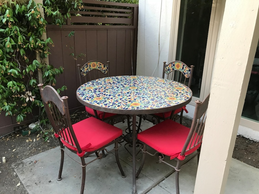 Beautiful Mosaic Table Set, Custom Made In Good Condition