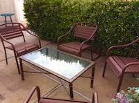 Patio Set: 4 Chairs stackable and center Table. Las Vegas, 89121