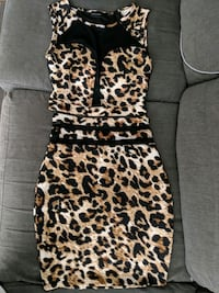 leopard print 2 piece dress S or XS Toronto, M2M 1R1