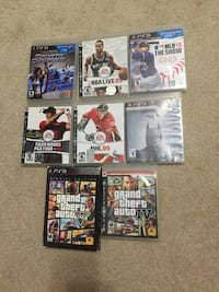 Play station 3 games all for $40 Burnaby, V5H