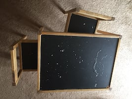 Chalkboard table and chairs
