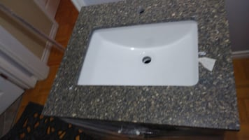 Bathroom granite counter top 24 inch