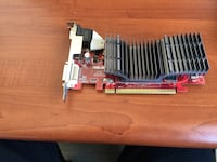 Red video graphics card.