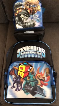Skylanders 3D Backpack and lunch bag. Mint condition, never used/open.