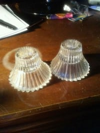 two clear glass candle holders Brooksville, 34610