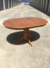 Beautiful wood dining room table. Extends as needed. No chairs. $100 obo. No holds.  MPU. San Antonio, 78216
