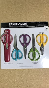 Farberware 5 piece multicolor kitchen shears set Henderson, 89014