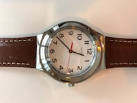 Original SWATCH- stainless Steel & brown leather Raleigh, 27601