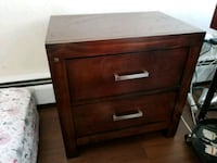 brown wooden 2-drawer nightstand Nanaimo, V9S 5A6