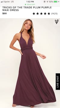 BRAND NEW Purple Lulus prom dress Bethesda, 20814
