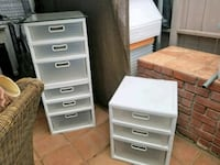 2 Sets of 4 drawers. $25 EACH. Paid $50 San Diego, 92121