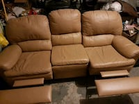 Leather double recliner couch 579 km