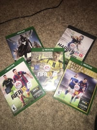 Xbox one video games all for $15 Manteca, 95337