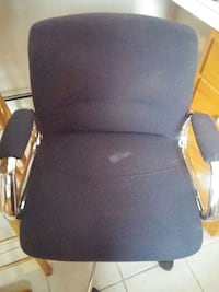 black leather padded rolling armchair East Aurora, 14052