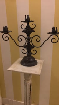 Used Black Solid Iron Floor Candelabras For Sale In