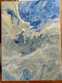 blue and white abstract painting Alachua, 32615