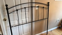 Black metal headboard for full bed Arlington, 22203