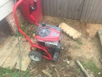Red and black pressure washer 49 km