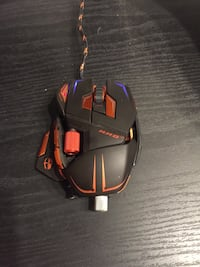 red and black corded gaming mouse Edmonton, T6L 1V6