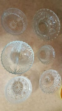 Assorted glass bowls.