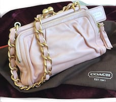COACH Pink /Pearl Leather Clutch