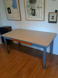 rectangular white wooden table with two chairs Los Angeles, 91602
