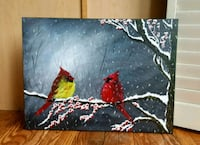 24x18 inches cardinals acrylic painting  Vaughan, L4J 3B2