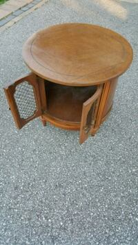 round brown wooden side table (Drum Table) Barrie, L4N 6L1