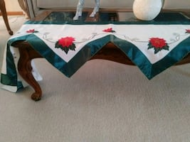 2 pc Decorative mantle scarf and matching  table runner