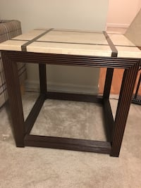 """Top granite"" Side table (pickup only from Great Falls VA) Great Falls, 22066"