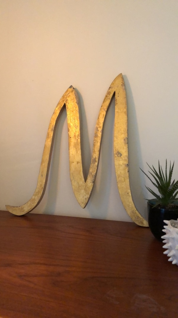 Farmhouse modern letter M