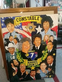 Large oil painting of harris county constable Houston, 77077