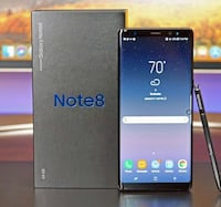 Samsung Galaxy Note 8 (Factory Unlocked) - Comes w/ Box + Accessories & 1 Month Warranty Springfield, 22150