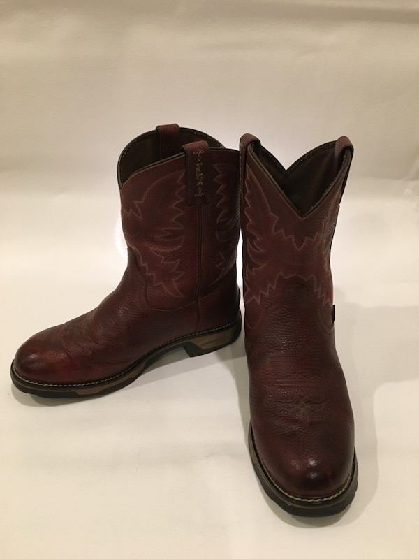 ec1d84bcccc Tony Lama TW903Y Kids TLX Western Work Collection Western Boot with Briar  Pitstop Leather Foot and a Wide Round Toe Size: Mens 6
