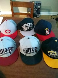 six assorted color fitted caps Tampa, 33613