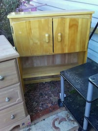 brown wooden cabinet with drawer Red Deer, T4P 2X8