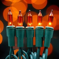200 count mini orange lights Christmas string lights 33 ft for decor Montgomery Village, 20886