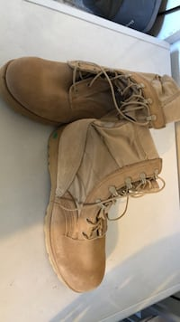 Combat boots (winter and summer pairs).